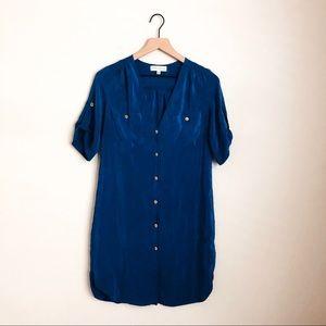 AMANDA UPRICHARD • silk button up dress